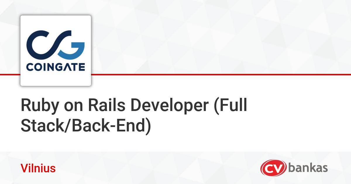 Ruby on Rails Developer (Full Stack/Back-End) Vilniuje, UAB