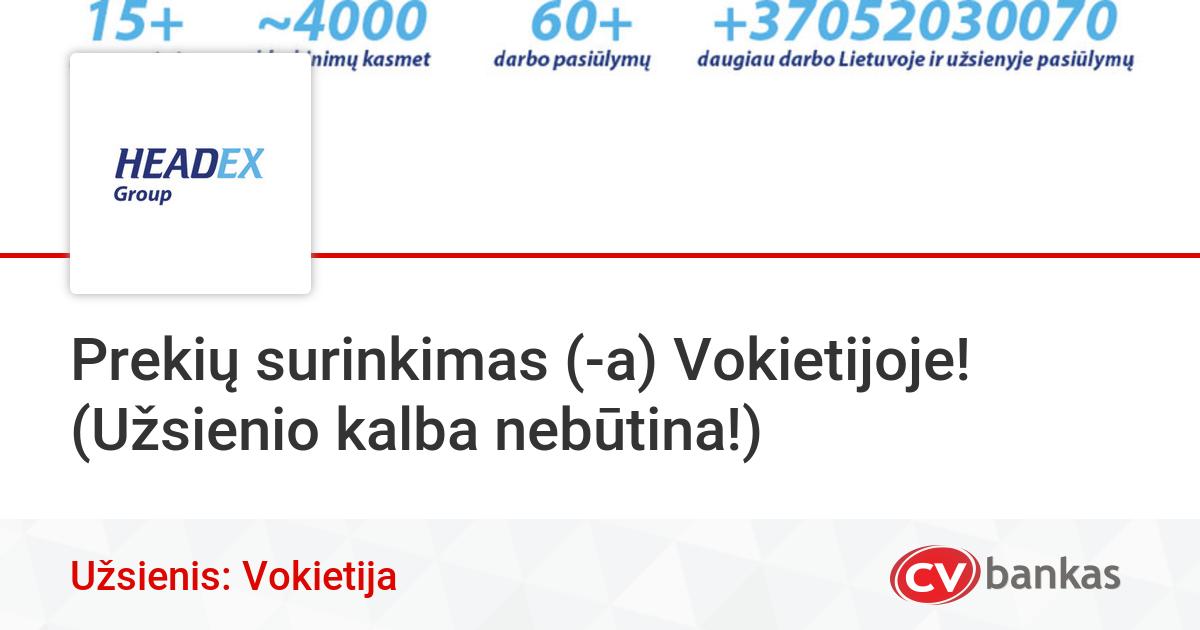 darbo pasiūlymai namų surinkime)